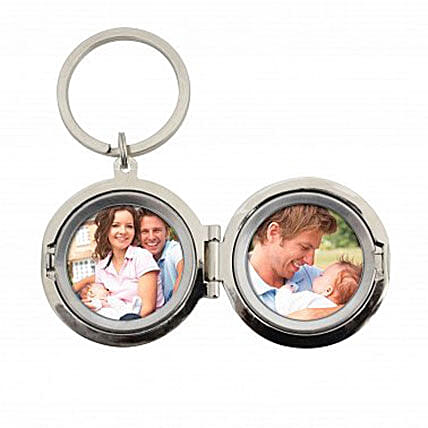Personalized Dad No.1 Photo Keyring