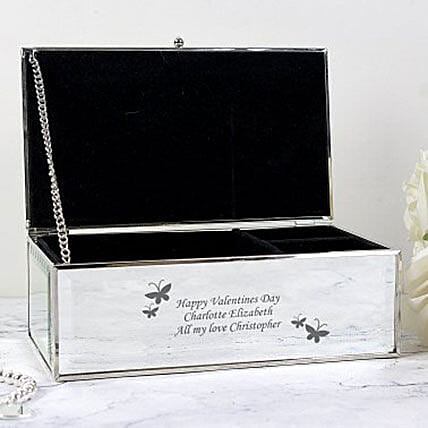 Personalized Mirrored Jewelry Box:Artificial Jewellery Gifts to UK