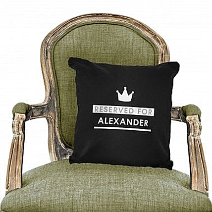 Personalized Reserved For Black Cushion Cover:Birthday Cushion to UAE
