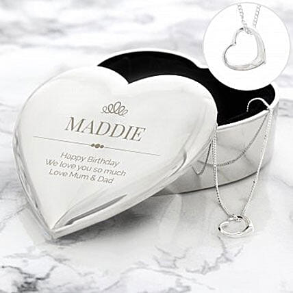 Personalized Trinket Box And Necklace Set:Artificial Jewellery Gifts to UK