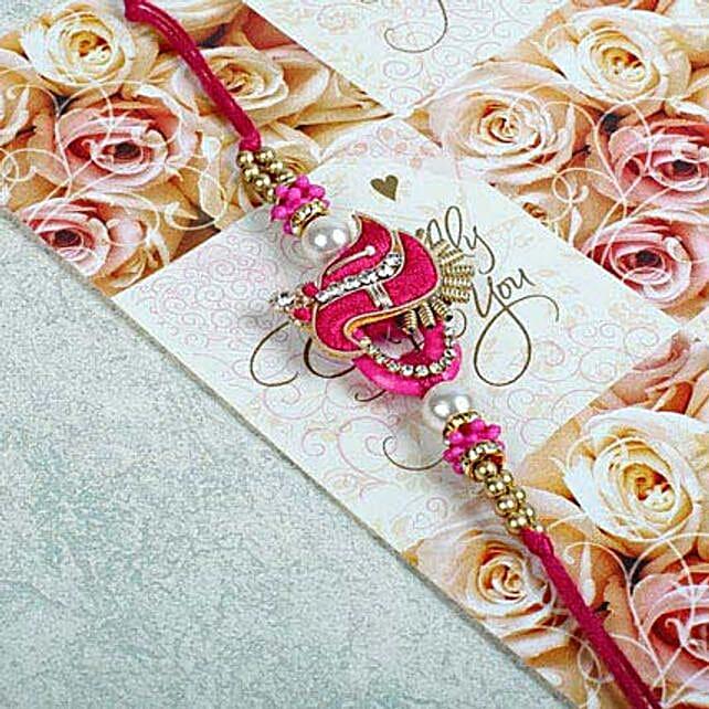 Pink Zardosi Bracelet