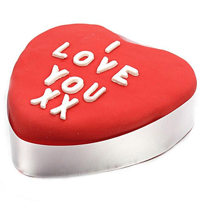 Pretty Red Heart Cake