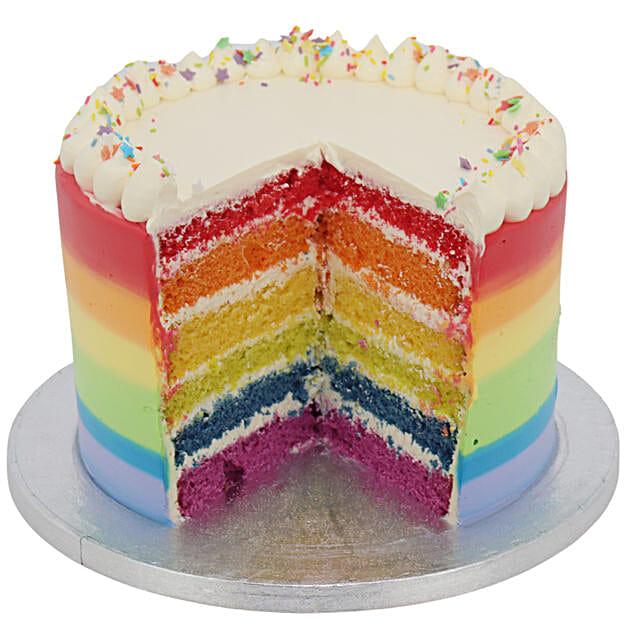 Rainbow Cake Tower