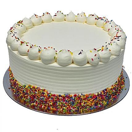 Rainbow Sprinkles Vanilla Cake:Women's Day Gift Delivery in UK