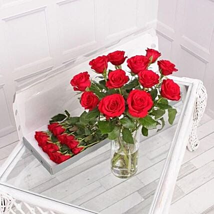 Red Roses Letter Box:Send Flowers to UK