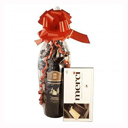 Red Wine and Chocolate:Send Corporate Gifts to to UK