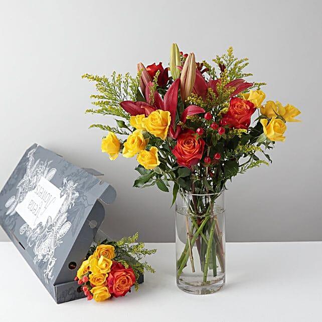 Roses N Hypericum Bouquet