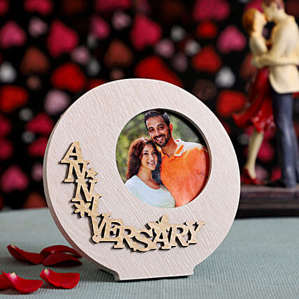 Round Anniversary Photo Frame