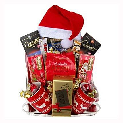 Santa Christmas Tea Basket