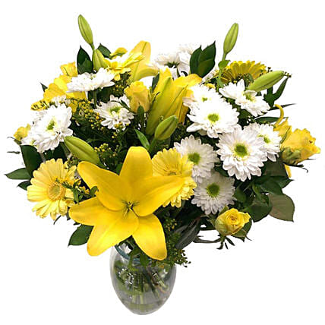 Sensational Lilies And Chrysanthemum Bouquet