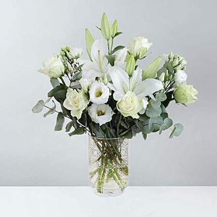 Serenity With White Flower Bunch
