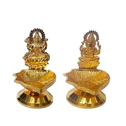 Set Of Laxmi And Ganesh Deeva Lamps