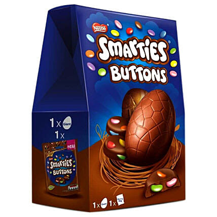 Smarties Buttons Milk Chocolate Easter Eggs