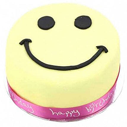 Smiley Celebration Cake For Girl:Cake Delivery in Wolverhampton