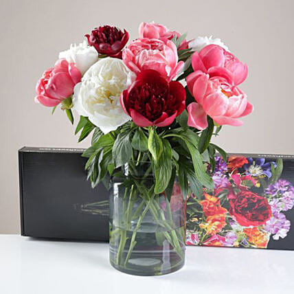 Special Letterbox Peonies Bunch:Birthday Flowers to UK