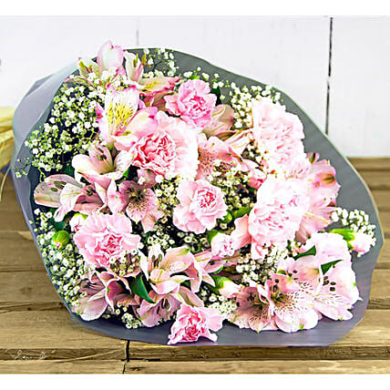 Spray Carnations And Lilies