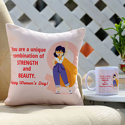Cushion and Mug Combo For Women's Day