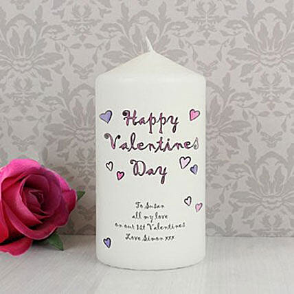 Personalized Happy Valentine'S Day Candle