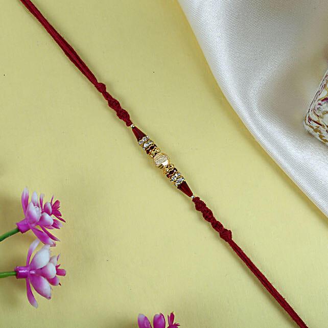 Shree Ganesha Rakhi Thread:Rudraksha Rakhi to UK