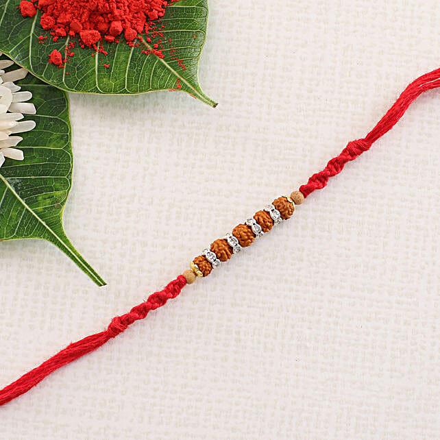 Traditional Rudraksha Rakhi Thread:Rudraksha Rakhi to UK