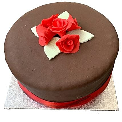 Chocolate Rose Cake:Birthday Cakes to UK