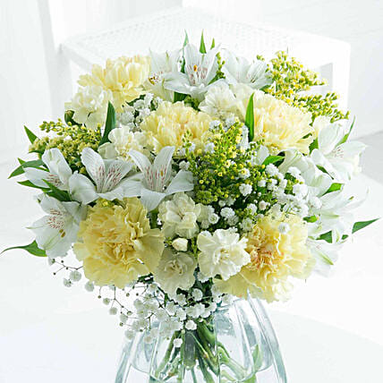 Exotic Carnations And Alstroemeria Bunch
