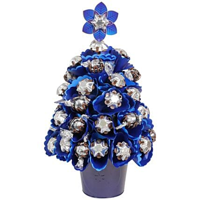 Blue Chocolate Christmas Tree
