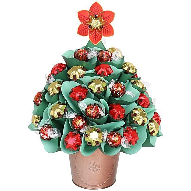 Festive Traditional Chocolate Christmas Tree