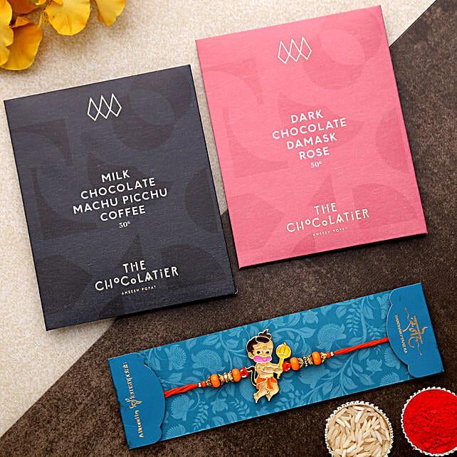 Bal Hanuman Kids Rakhi And Chocolate Bars:Letterbox Rakhi to UK