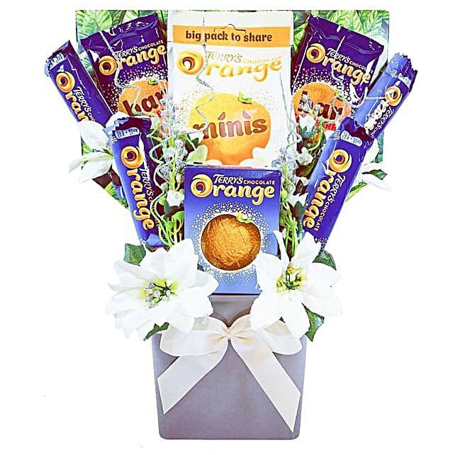 Xmas Special Orange Chocolate Bouquet