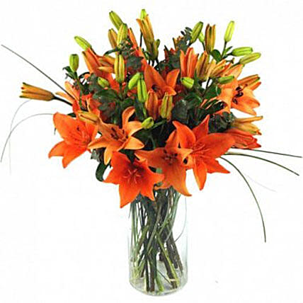Zesty Orange Lilies Bouquet