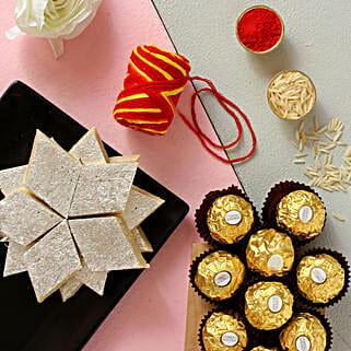 Bhai Dooj Kaju Katli And Ferrero Rocher Combo