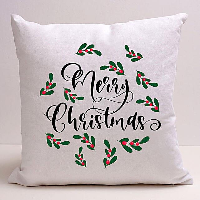 Pretty Merry Christmas Cushion