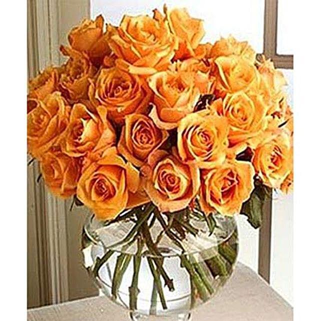 25 Orange Roses