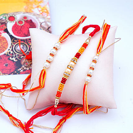 Affectionate Set of 3 Rakhis