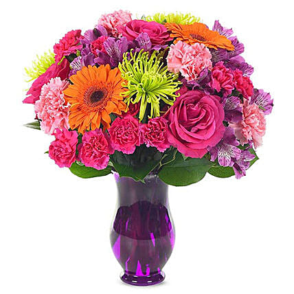 Alluring Mixed Flowers Bunch