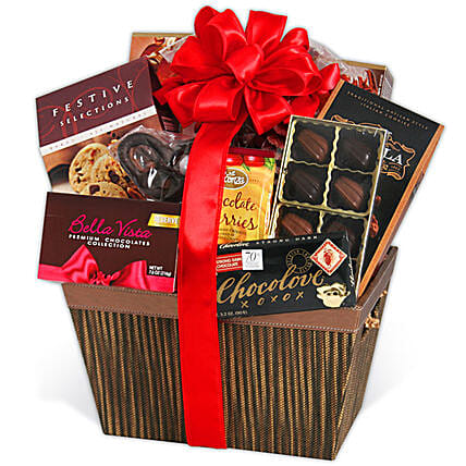 Assorted Gourmet Chocolates Basket