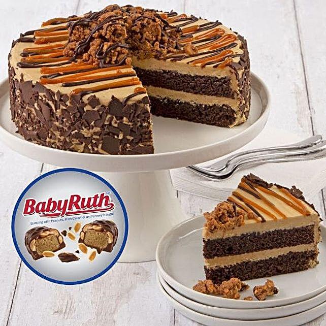 Baby Ruth Choco Caramel Cake
