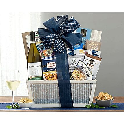 Baron Herzog Chardonnay Cheer Wine Basket:Corporate Gifts to USA