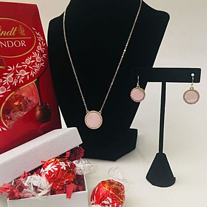 Beautiful Pink Jewelry Gift Set
