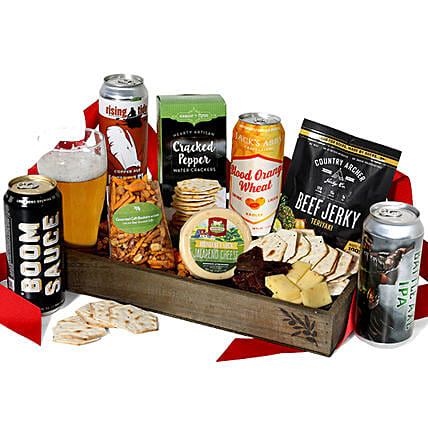 Beer And Snacks Crate:Send Diwali Gift Hampers to USA