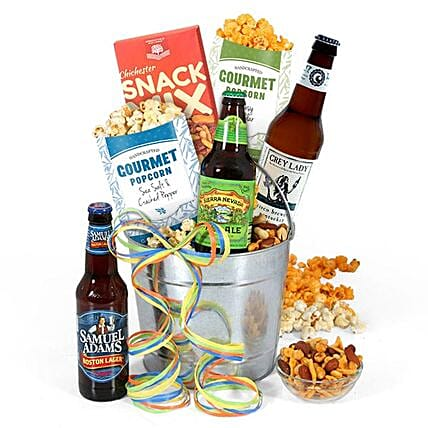Beer And Snacks Hamper:Gifts for Anniversary in USA
