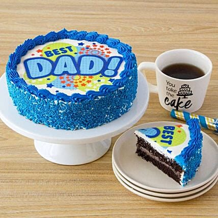 Best Dad Tempting Chocolate Cake:Father