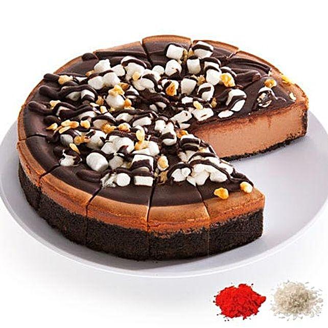 Bhai Dooj Special Chocolate Fudge Cheesecake:Bhai Dooj Gifts to USA