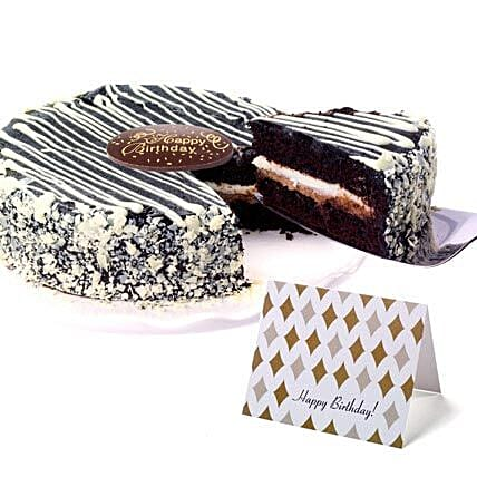 Black and White Mousse Cake Cakes Birthday:House Warming Gifts to USA