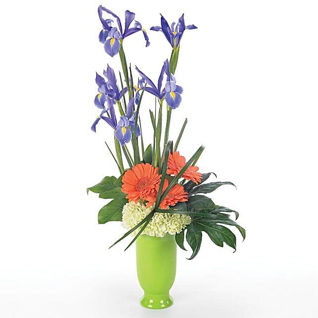 Blooming Assorted Flowers Pot Arrangement