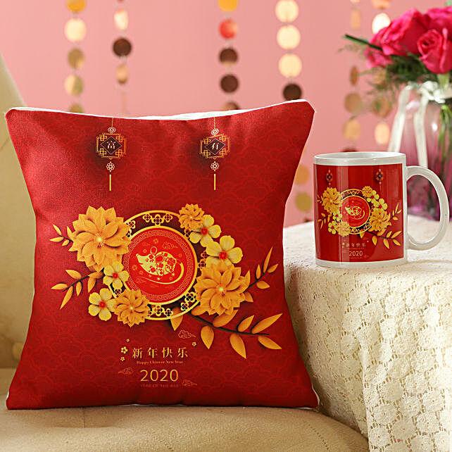 Chinese New Year 2020 Greetings Mug And Cushion Combo