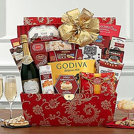 Chinese New Year Sparkling Wine Basket:Hampers USA