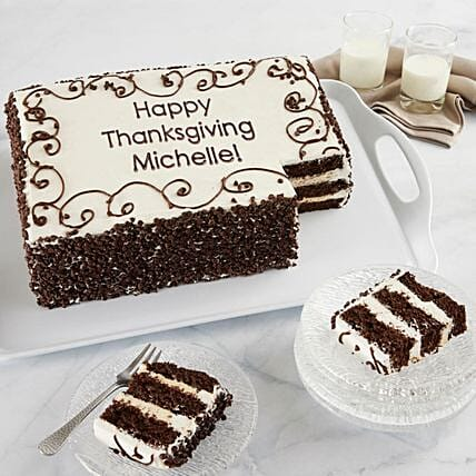Chocolate Chip Sheet Cake With Personalization