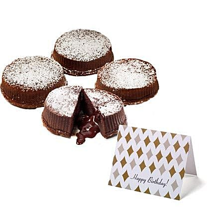 Chocolate Truffle Lava Cakes Birthday:Chocolate Cake Delivery in USA